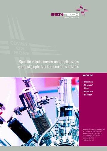 Sentech vacuum compatible sensors catalog