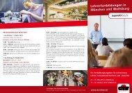 Lehrerfortbildungen in München und Wolfsburg - Jugend forscht