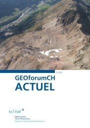 GEOforumCH ACTUEL - Platform Geosciences - SCNAT
