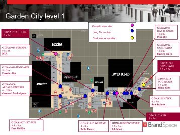 GARDEN CITY BRANDSPACE MUD MAP - Westfield Pop-Up