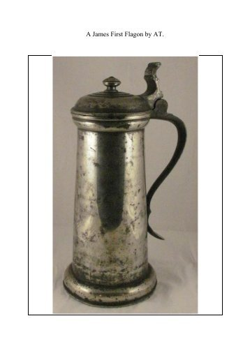 A James First Flagon by AT. - PewterBank
