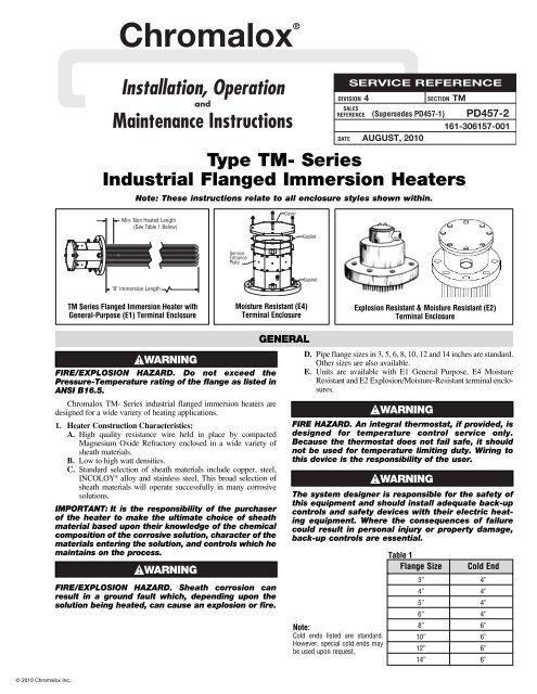 tm installation manual - chromalox precision heat and control  yumpu
