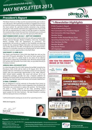 68967 2013 MAY Newsletter Final - Petroleum Club Of WA