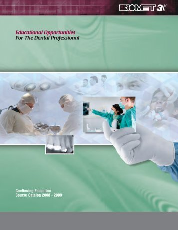 Educational Opportunities For The Dental Professional
