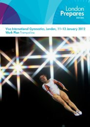 Visa International Gymnastics, London, 11–13 January 2012 Work ...