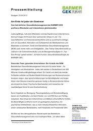 Das Firmenangebot Gesundheit der BARMER GEK ( PDF ... - Presse