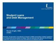 Student Loans and Debt Management - Vanderbilt School of ...