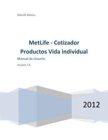 MetLife - Cotizador Productos Vida individual