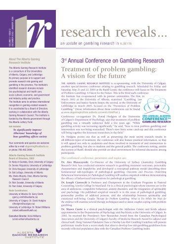 Alberta problem gambling conference pala casino starlight