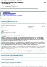 Raport bieżący nr 44/2011 - MAGELLAN