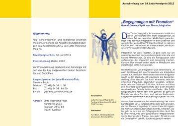 """""""Begegnungen mit Fremden"""" - Fachverband Deutsch"""