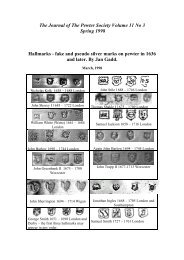 Hallmarks - fake and pseudo silver marks on pewter in ... - PewterBank