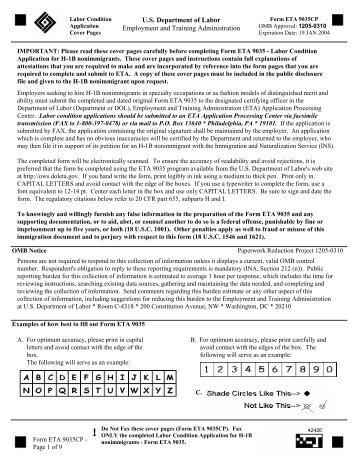 The Labor Certification Application / PERM process - Troutman ...