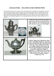 COLLECTING – TEA POTS AND COFFEE POTS - PewterBank
