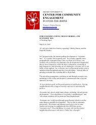 center for community engagement - Miami University School of Fine ...