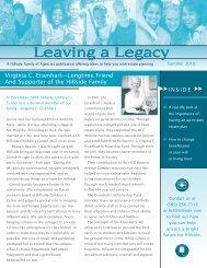 Leaving a Legacy Leaving a Legacy - Hillside Family of Agencies