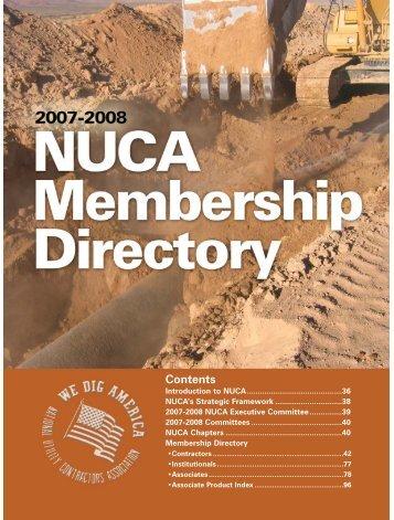 NUCA's 2007-2008 MEMBERSHIP DIRECTORY - Utility Contractor ...
