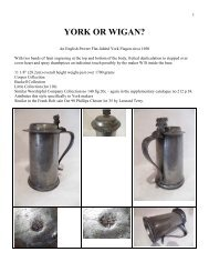 An English Pewter Flat-lidded York Flagon circa 1690 - PewterBank