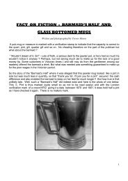 fact or fiction - barmaid's half and glass bottomed mugs - PewterBank