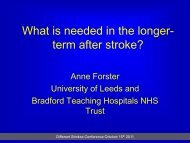 What is needed in the longer-term after stroke' - Different Strokes