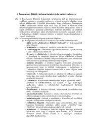 A Tudományos Diákköri dolgozat tartalmi és formai követelményei ...