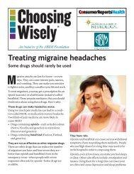 Treating migraine headaches - Consumer Health Choices
