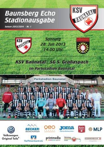 """""""Baunsberg Echo"""" Ausgabe 1 vom 28.7.2013 - KSV Baunatal"""
