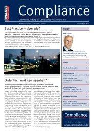 (PDF) | Ausgabe Juli/August 2008 - Compliance