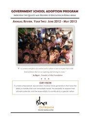 Year 2: 2012-2013 - Isha Outreach