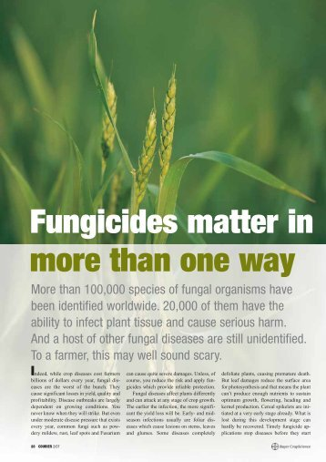 Fungicides matter in more than one way