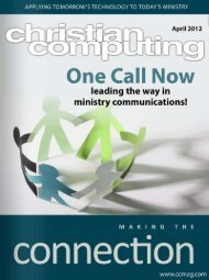 Friendly vs Connected - Christian Computing Magazine