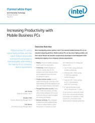 Increasing Productivity with Mobile Business PCs - Intel