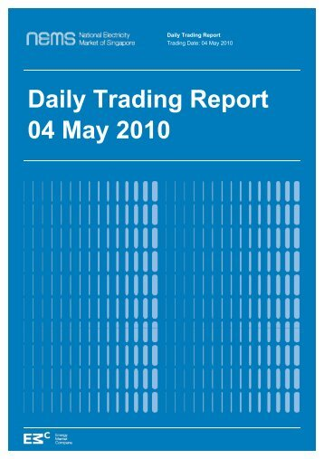 Daily Trading Report 04 May 2010 - EMC - Energy Market Company