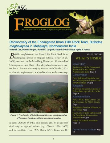 FROGLOG - Amphibian Specialist Group