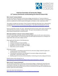 21st-Century Initiative FAQ - American Association of Community ...