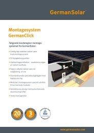 Montagesystem GermanClick Følgende ... - German Solar