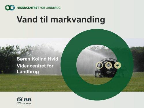 Økonomi i markvanding - ATV - Jord og Grundvand