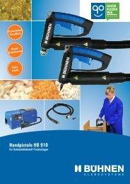 Handpistole HB 910 - Bühnen GmbH