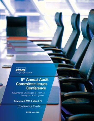 9th Annual Audit Committee Issues Conference - Weil, Gotshal ...