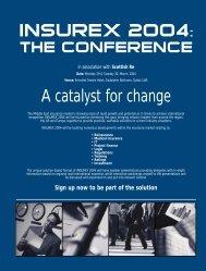 INSUREX 2004: A catalyst for change - Zawya