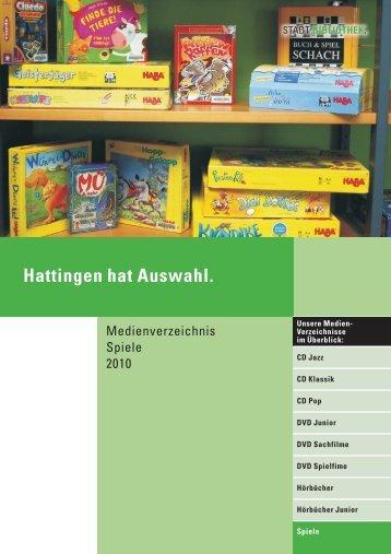 Medienverzeichnis Spiele 2010 - Hattingen.de
