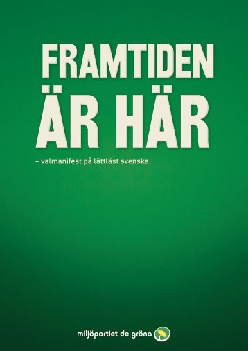 – valmanifest på lättläst svenska
