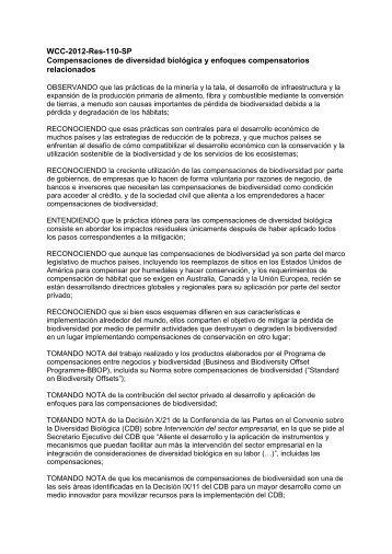 WCC-2012-Res-110-SP Compensaciones de ... - IUCN Portals