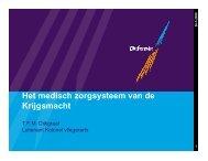 Het medisch zorgsysteem van de Krijgsmacht - Boekje Pienter