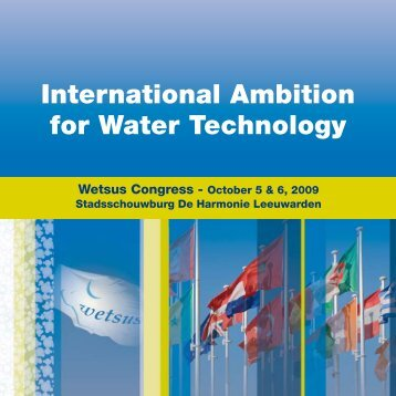 International Ambition for Water Technology - Wetsus