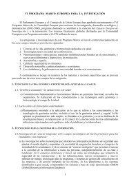 VI Programa Marco europeo para la investigación - Encuentros ...