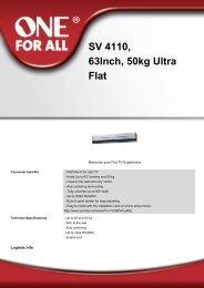 SV 4110, 63Inch, 50kg Ultra Flat - DirectaLine
