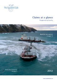 Claims at a glance 2012 - The Swedish Club