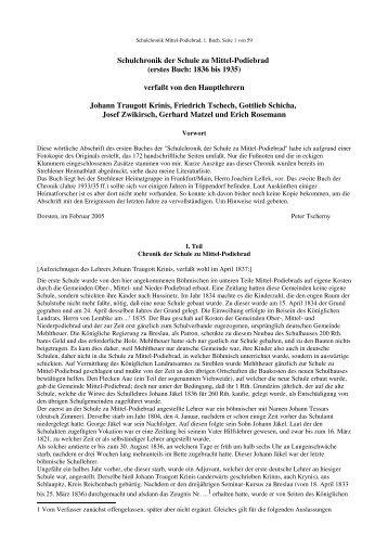 Schulchronik Mittel-Podibrad, Buch  1.odt