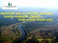 Marketinški plan za turističke destinacije Sisačko-moslavačke ...